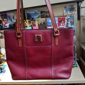 Dooney & Bourke Small Lexington Tote in Burgundy!